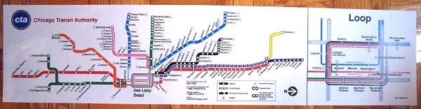 Chicago Transit Authority Subway Map.E Store Hat Badges 2